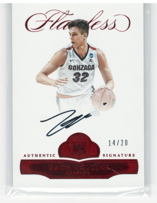 2017 Panini Flawless Collegiate Rookie Autographs Ruby #BRAZC Zach Collins