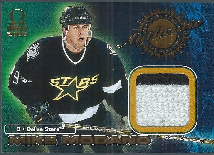 1999-00 Pacific Omega Game-Used Jerseys #2 Mike Modano