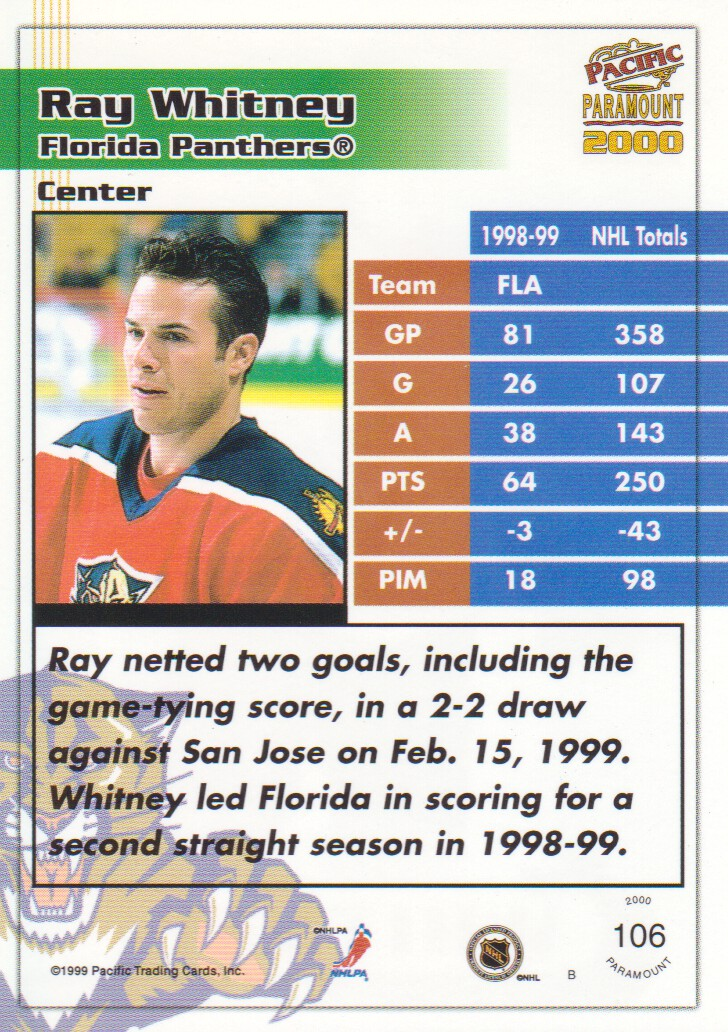 1999-00-Paramount-Red-Parallel-Hockey-Cards-Pick-From-List thumbnail 67