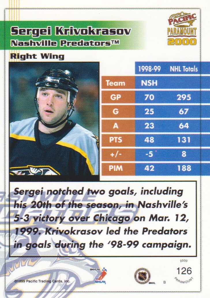 1999-00-Paramount-Red-Parallel-Hockey-Cards-Pick-From-List thumbnail 81