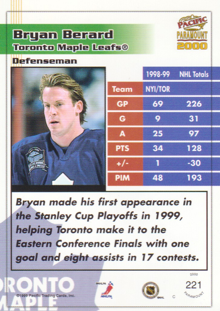 1999-00-Paramount-Red-Parallel-Hockey-Cards-Pick-From-List thumbnail 149