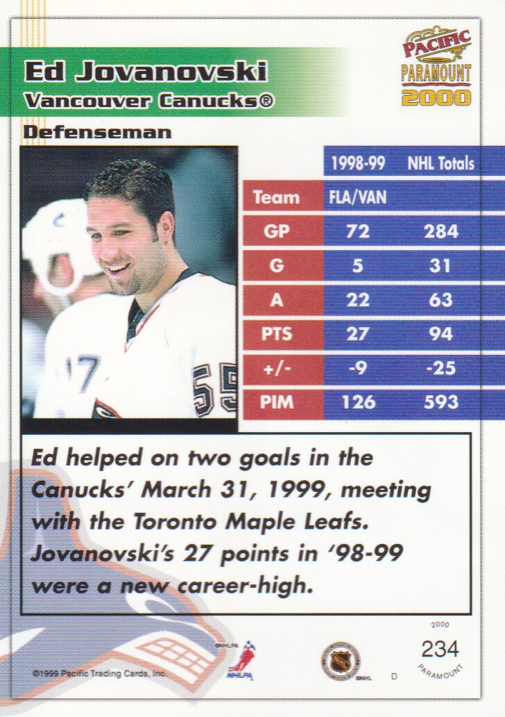 1999-00-Paramount-Red-Parallel-Hockey-Cards-Pick-From-List thumbnail 159