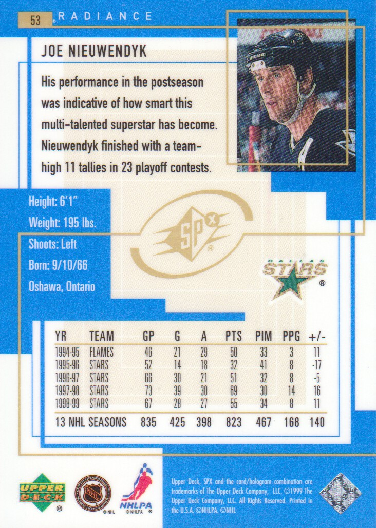 1999-00-SPx-Radiance-Parallel-Hockey-Cards-Pick-From-List miniature 3