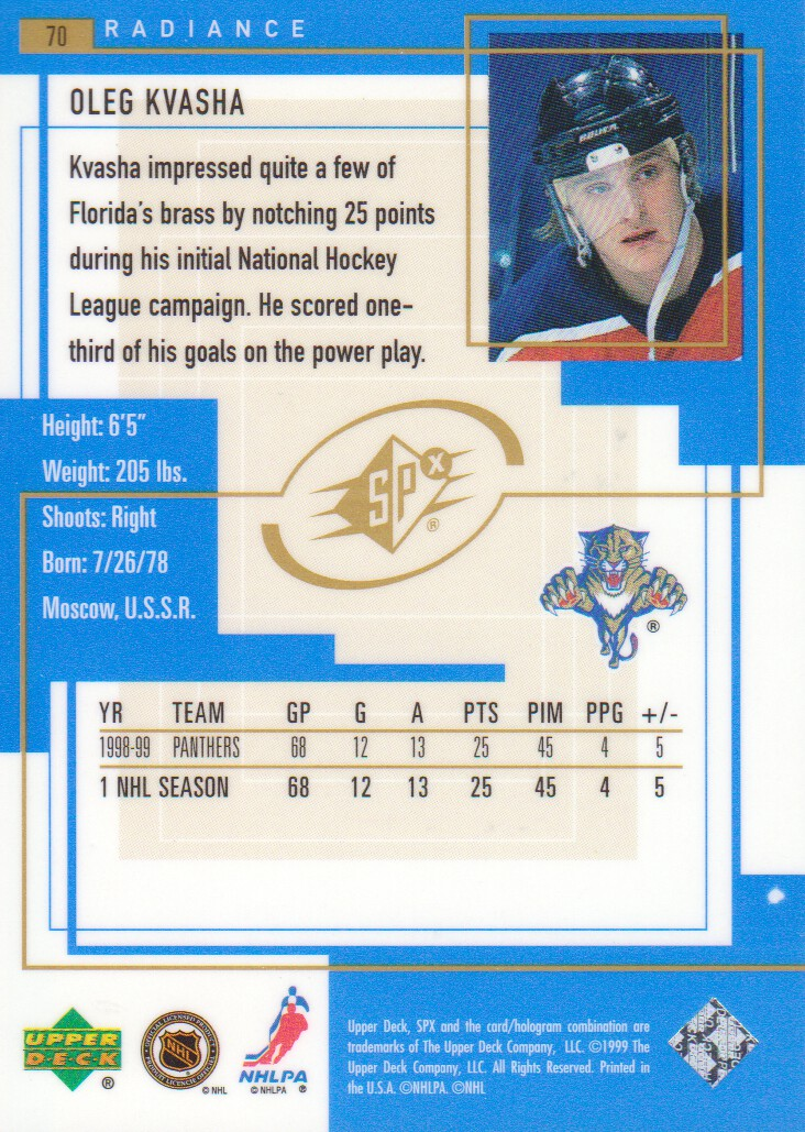 1999-00-SPx-Radiance-Parallel-Hockey-Cards-Pick-From-List miniature 5
