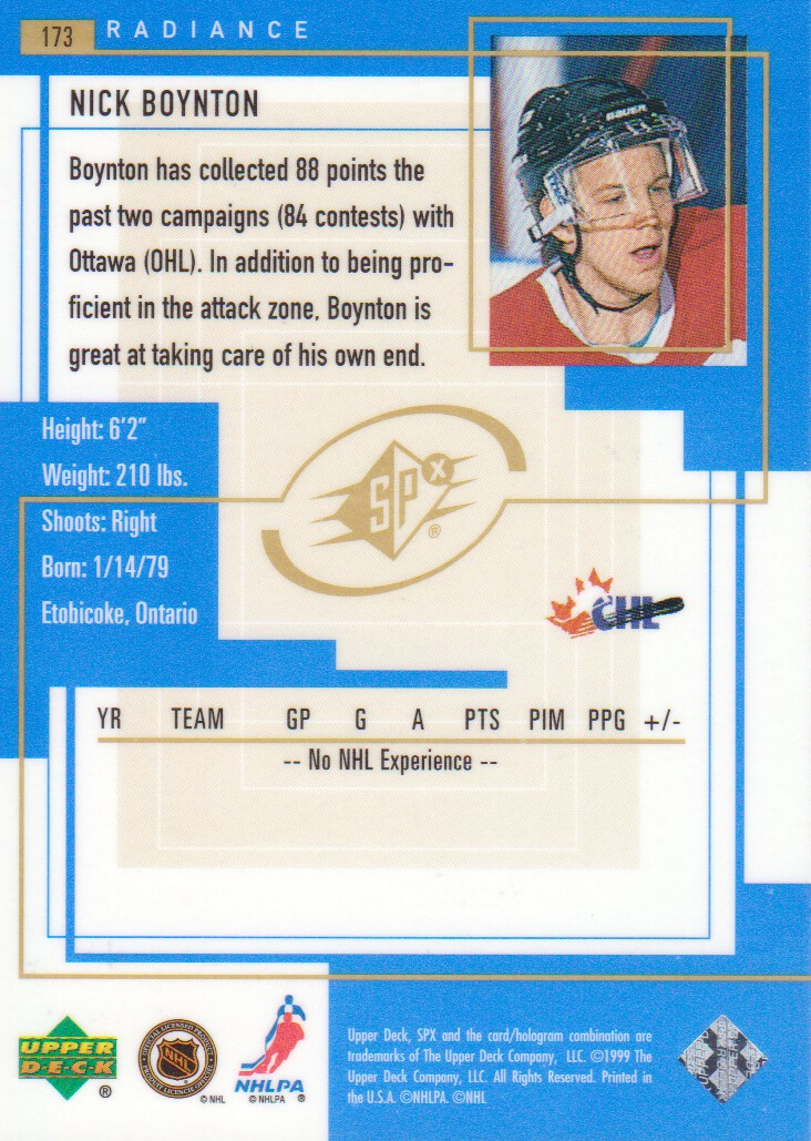 1999-00-SPx-Radiance-Parallel-Hockey-Cards-Pick-From-List miniature 9