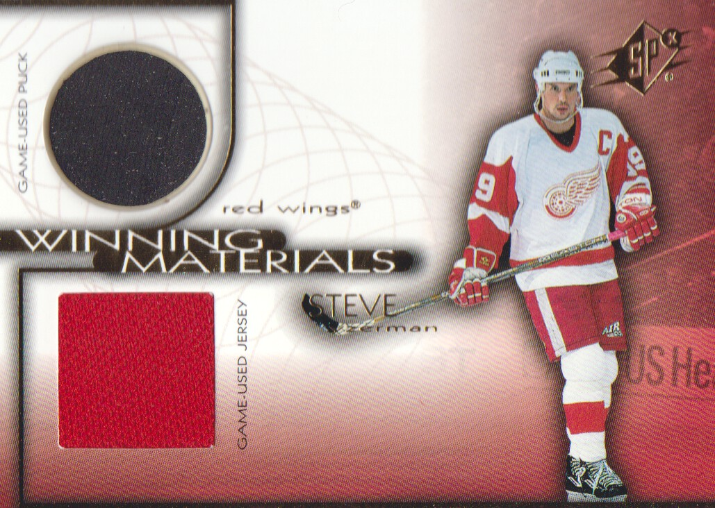 1999-00 SPx Winning Materials #WM3 Steve Yzerman