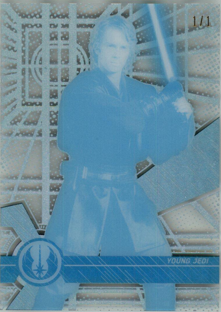 2017 Star Wars High Tek Printing Proofs Cyan #1 Anakin Skywalker