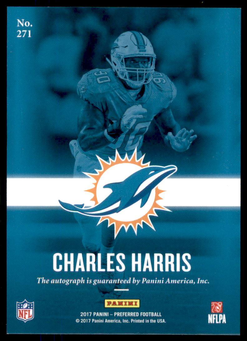 2017 Panini Preferred Football Card 271 Charles Harris Prom Auto