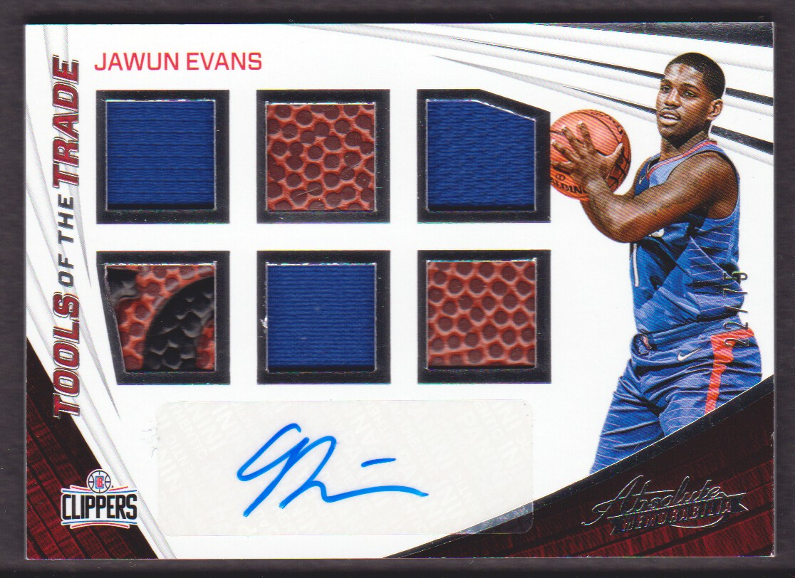 2017-18 Absolute Memorabilia Tools of the Trade Six Swatch Signatures #23 Jawun Evans