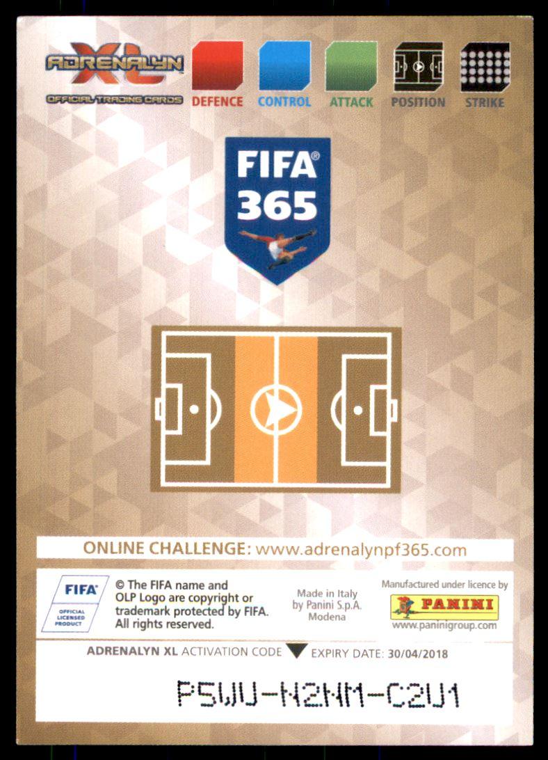 PANINI ADRENALYN XL FIFA 365 2018 #275 KARIM EL Ahmadi-FEYENOORD ROTTERDAM