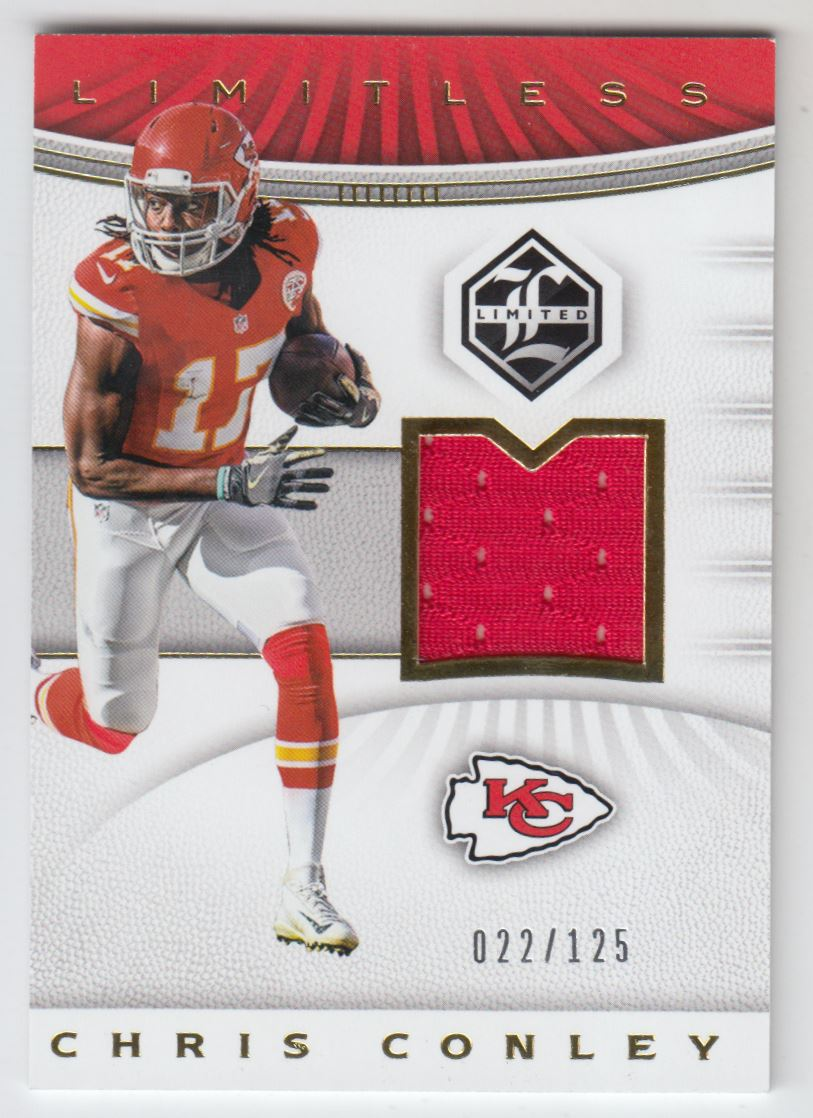 Details about 2017 Limited Limitless Materials #4 Chris Conley Jersey /125