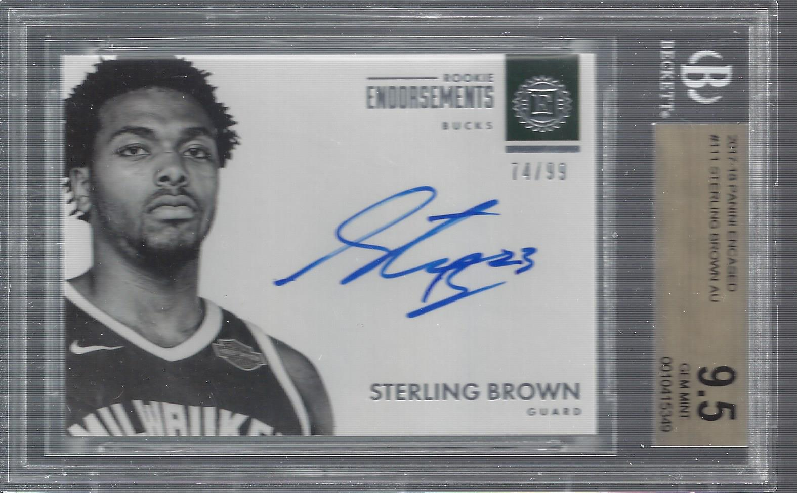 2017-18 Panini Encased #111 Sterling Brown AU RC