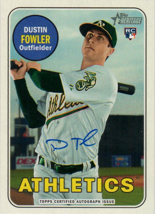 2018 Topps Heritage Real One Autographs #ROADF Dustin Fowler