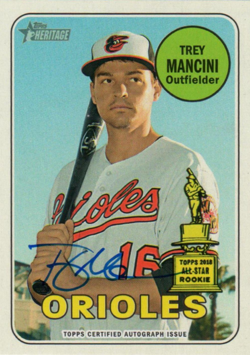 2018 Topps Heritage Real One Autographs #ROATM Trey Mancini