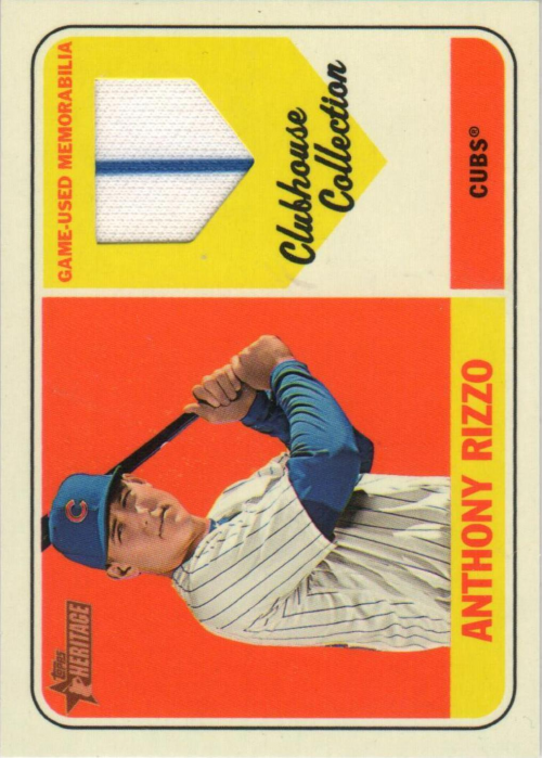 2018 Topps Heritage Clubhouse Collection Relics #CCRAR Anthony Rizzo