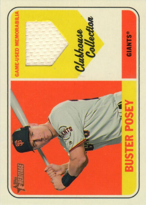 2018 Topps Heritage Clubhouse Collection Relics #CCRBPO Buster Posey