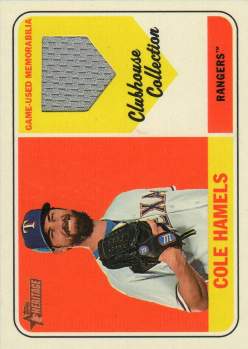 2018 Topps Heritage Clubhouse Collection Relics #CCRCH Cole Hamels