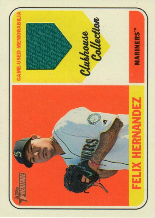 2018 Topps Heritage Clubhouse Collection Relics #CCRFH Felix Hernandez