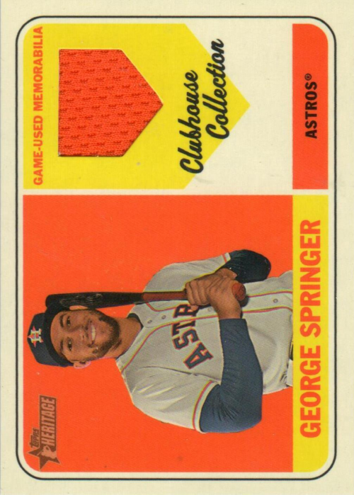 2018 Topps Heritage Clubhouse Collection Relics #CCRGS George Springer