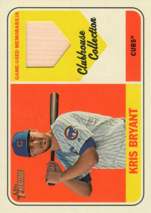 2018 Topps Heritage Clubhouse Collection Relics #CCRKB Kris Bryant