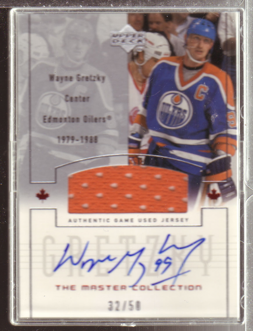 2000 Upper Deck Wayne Gretzky Master Collection Inserts #3 Gretzky Ed.AU/50 Can