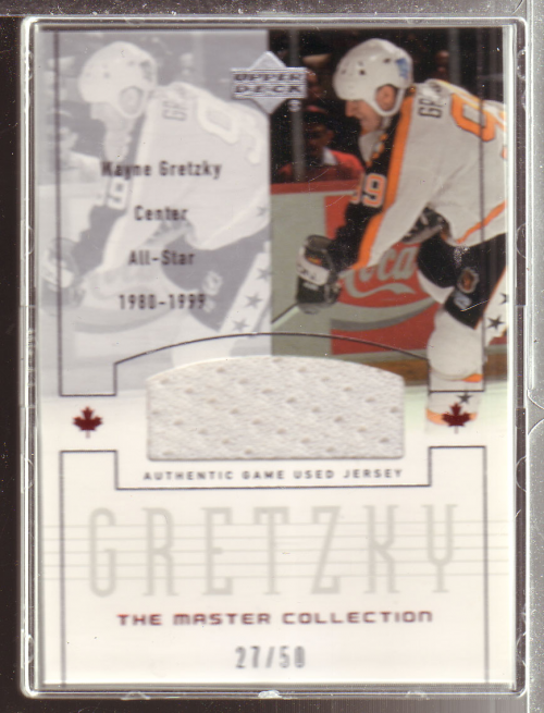 2000 Upper Deck Wayne Gretzky Master Collection Inserts #10 Gretzky AS/50