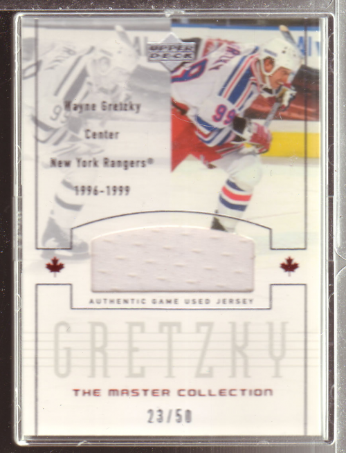 2000 Upper Deck Wayne Gretzky Master Collection Inserts #18 Gretzky NY/50 Can