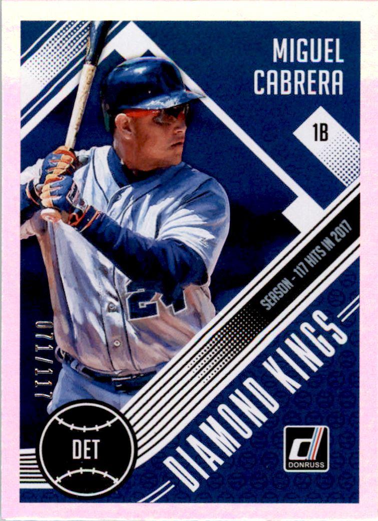 2018 Donruss Season Stat Line #9 Miguel Cabrera DK/117