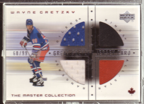 2000 Upper Deck Wayne Gretzky Master Collection Mystery Pack #19 Gretzky Jersey/99