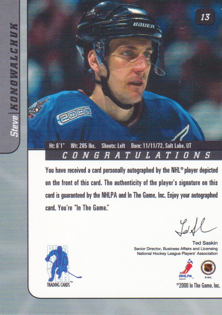 2000-01-BAP-Signature-Series-Autograph-Hockey-Cards-Pick-From-List miniature 5