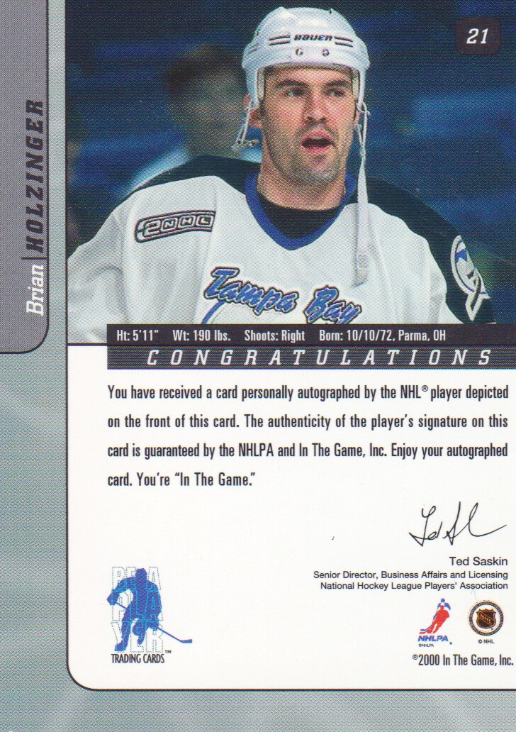 2000-01-BAP-Signature-Series-Autograph-Hockey-Cards-Pick-From-List miniature 7