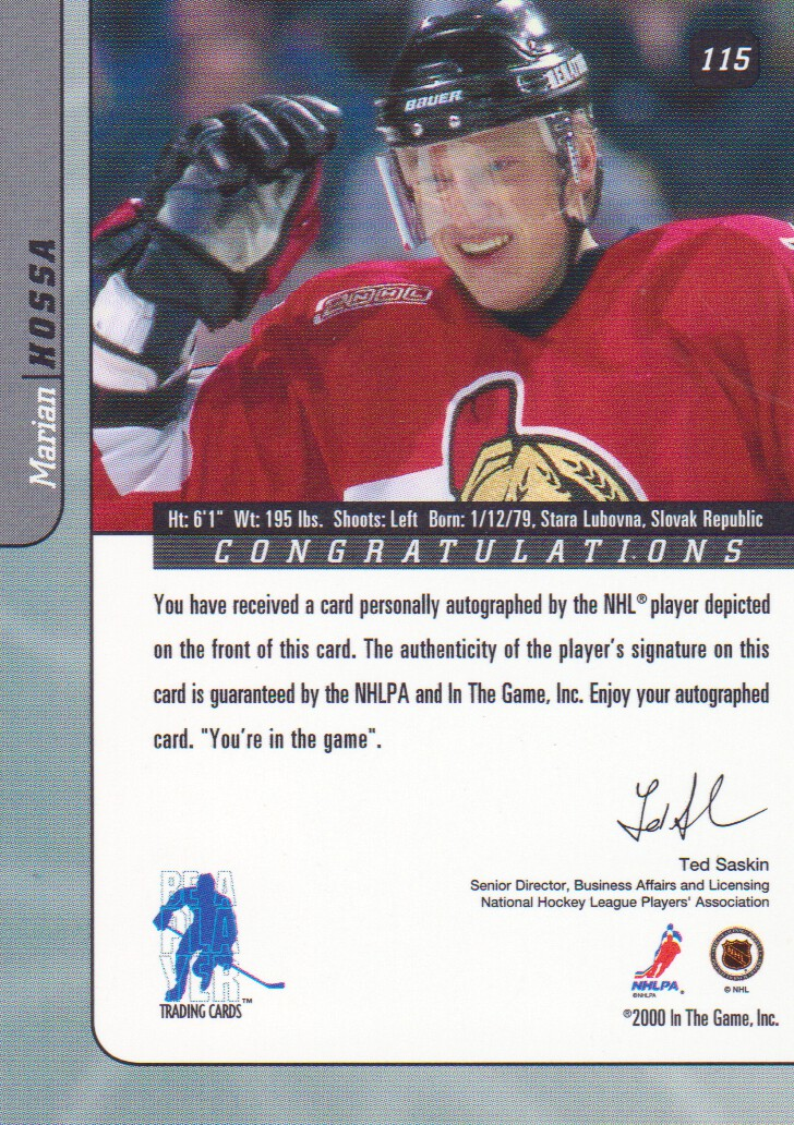 2000-01-BAP-Signature-Series-Autograph-Hockey-Cards-Pick-From-List miniature 13