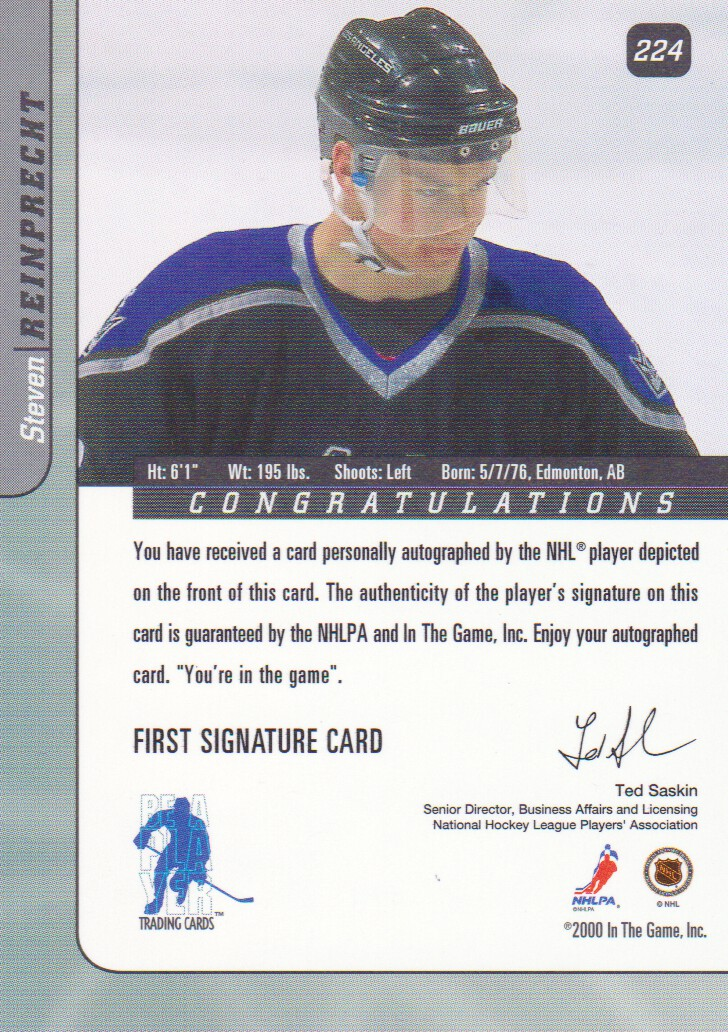 2000-01-BAP-Signature-Series-Autograph-Hockey-Cards-Pick-From-List miniature 15