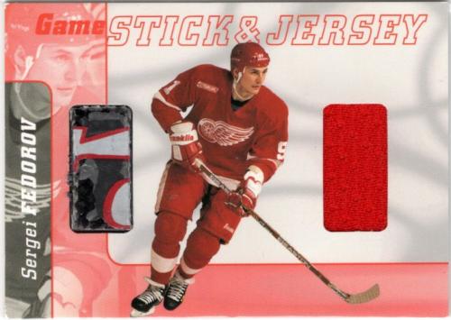 2000-01 BAP Signature Series Jersey and Stick #GSJ19 Sergei Fedorov