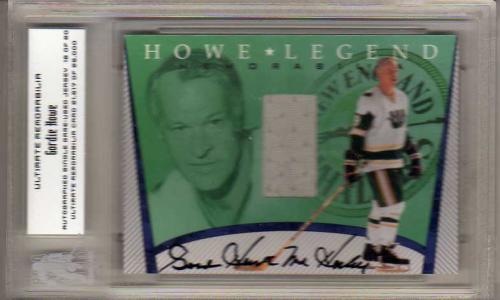2000-01 BAP Ultimate Memorabilia Gordie Howe Retrospective Jerseys Autograph #GH2 New England