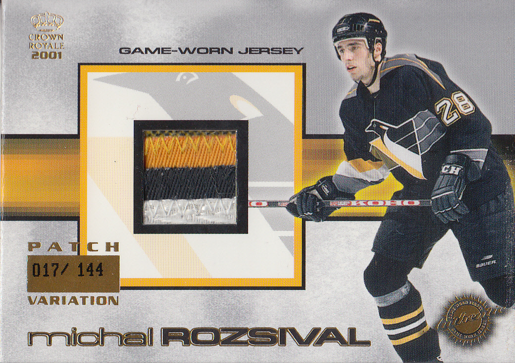 2000-01 Crown Royale Game-Worn Jersey Patches #22 Michal Rozsival/144