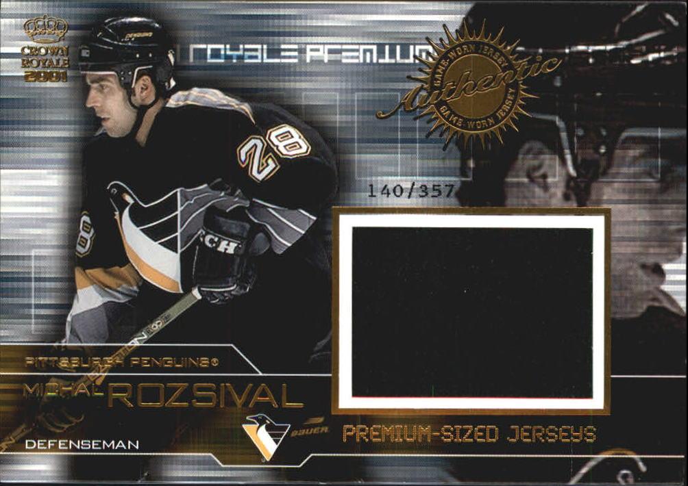 2000-01 Crown Royale Premium-Sized Game-Worn Jerseys #22 Michal Rozsival/357