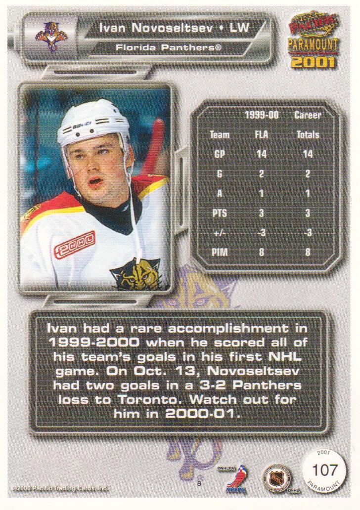 2000-01-Paramount-Hockey-Cards-Pick-From-List thumbnail 15