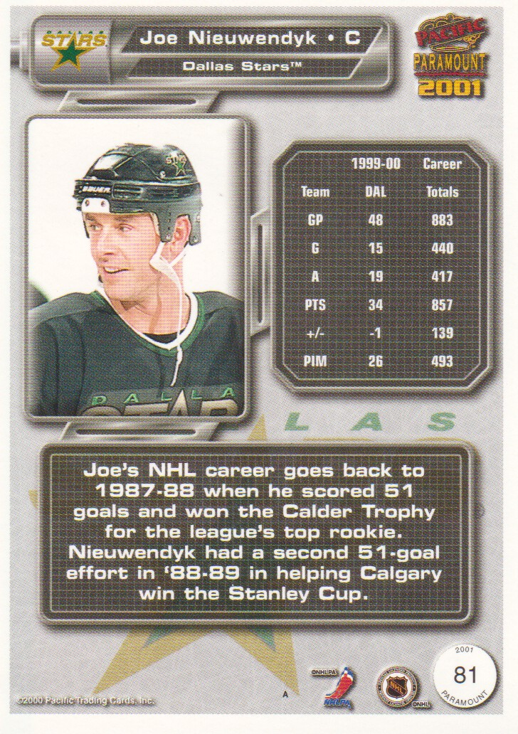 2000-01-Paramount-Copper-Parallel-Hockey-Cards-Pick-From-List thumbnail 41