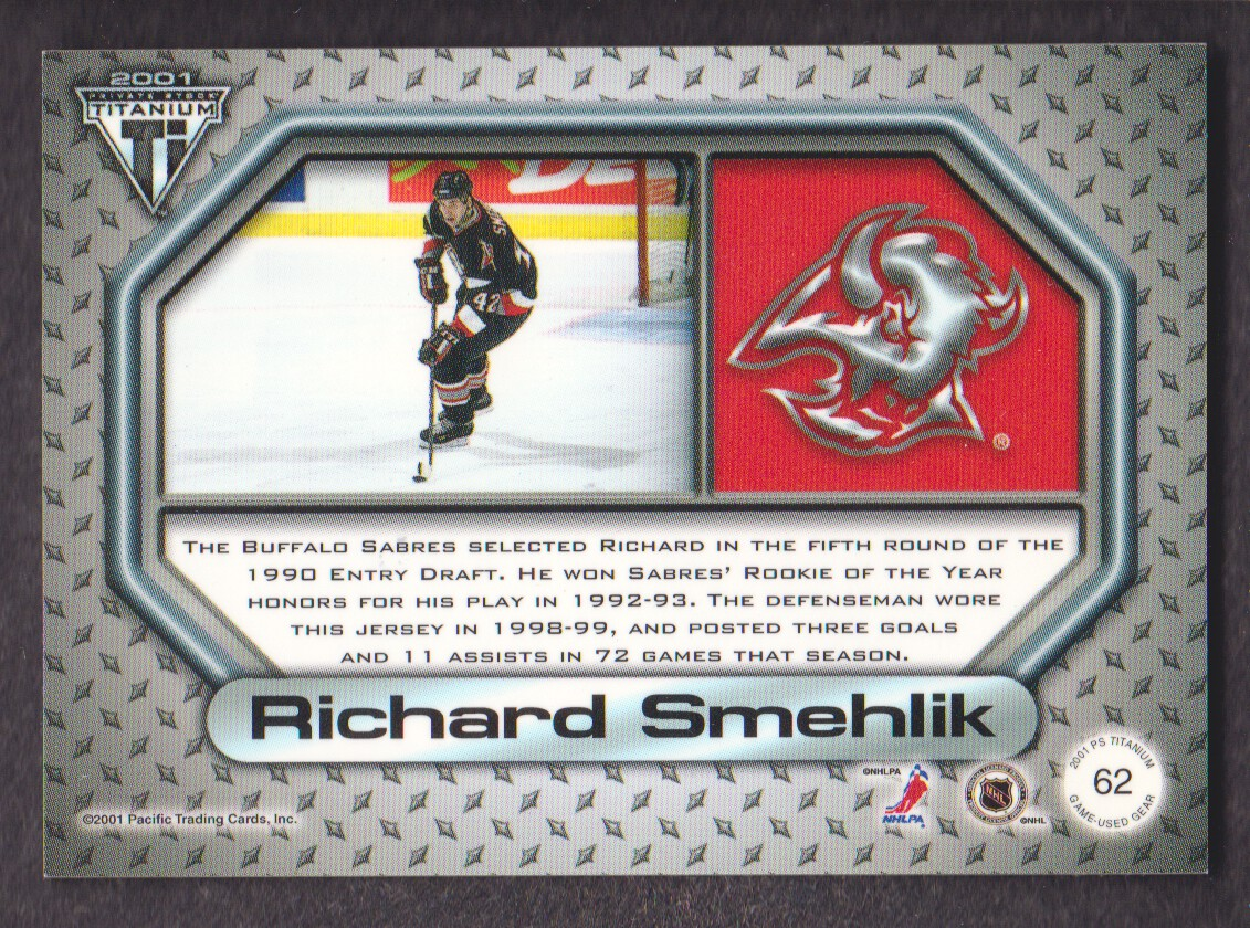 2000-01-Titanium-Game-Gear-JERSEY-Hockey-Cards-Pick-From-List miniature 7