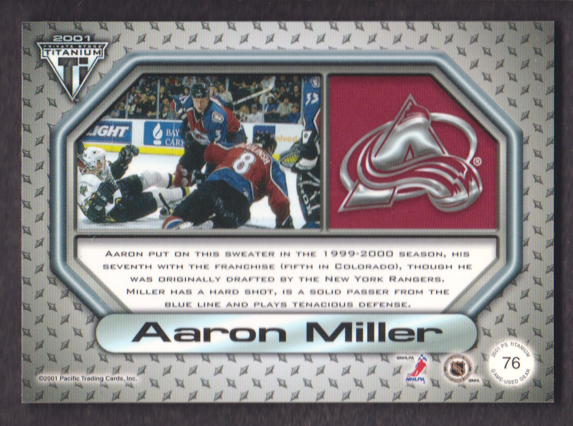 2000-01-Titanium-Game-Gear-JERSEY-Hockey-Cards-Pick-From-List miniature 15
