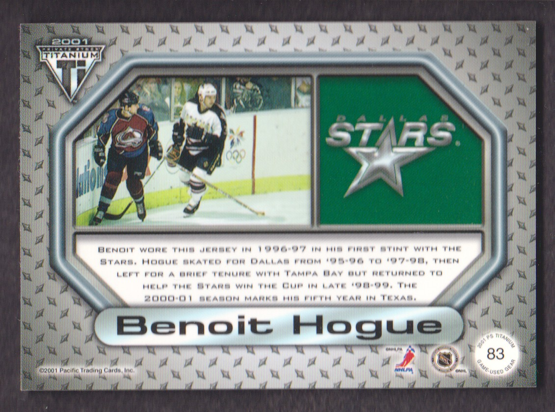 2000-01-Titanium-Game-Gear-JERSEY-Hockey-Cards-Pick-From-List miniature 19