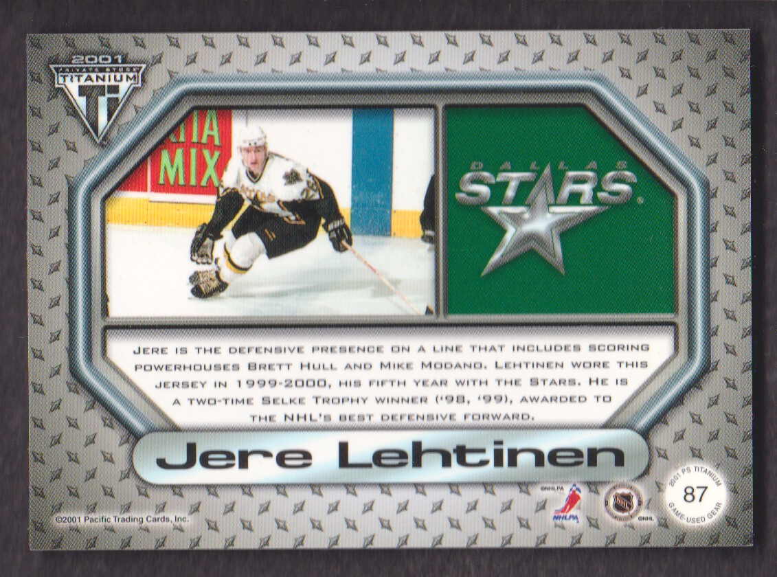 2000-01-Titanium-Game-Gear-JERSEY-Hockey-Cards-Pick-From-List miniature 21