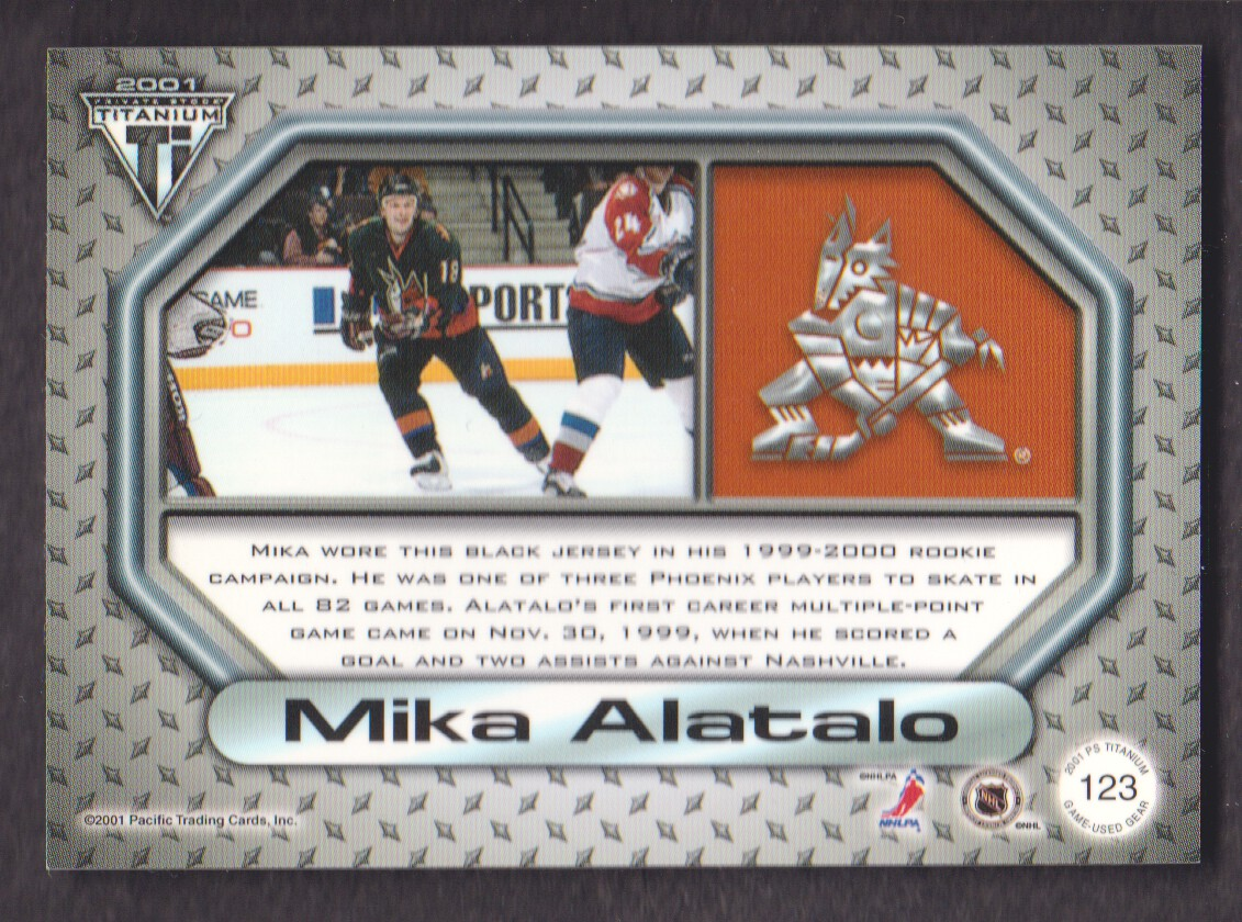 2000-01-Titanium-Game-Gear-JERSEY-Hockey-Cards-Pick-From-List miniature 31
