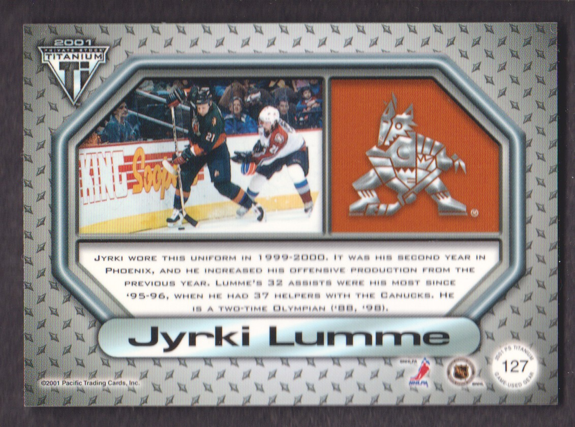 2000-01-Titanium-Game-Gear-JERSEY-Hockey-Cards-Pick-From-List miniature 33