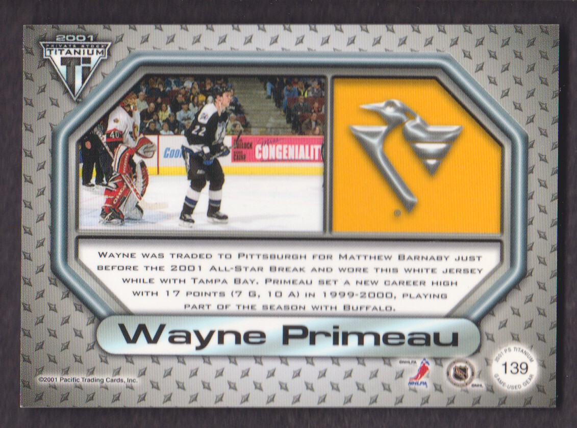 2000-01-Titanium-Game-Gear-JERSEY-Hockey-Cards-Pick-From-List miniature 37