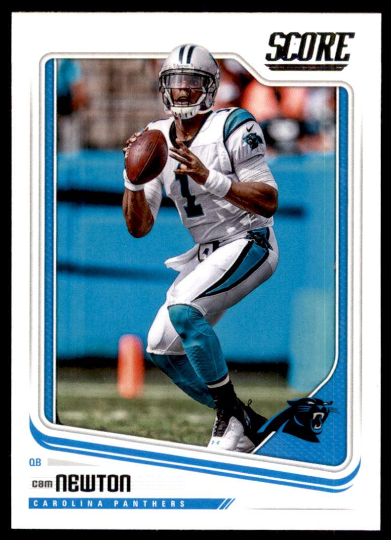 c5574d5e7 2018 Score Carolina Panthers Football Card #43 Cam Newton   eBay