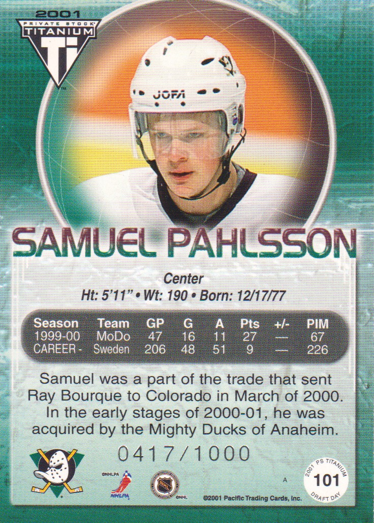 2000-01-Titanium-Draft-Day-Edition-Hockey-Cards-Pick-From-List thumbnail 15