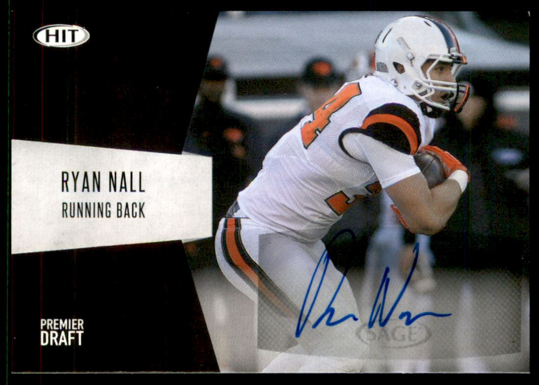 info for 70420 4b96b Details about 2018 SAGE HIT Autographs Black #A35 Ryan Nall Auto