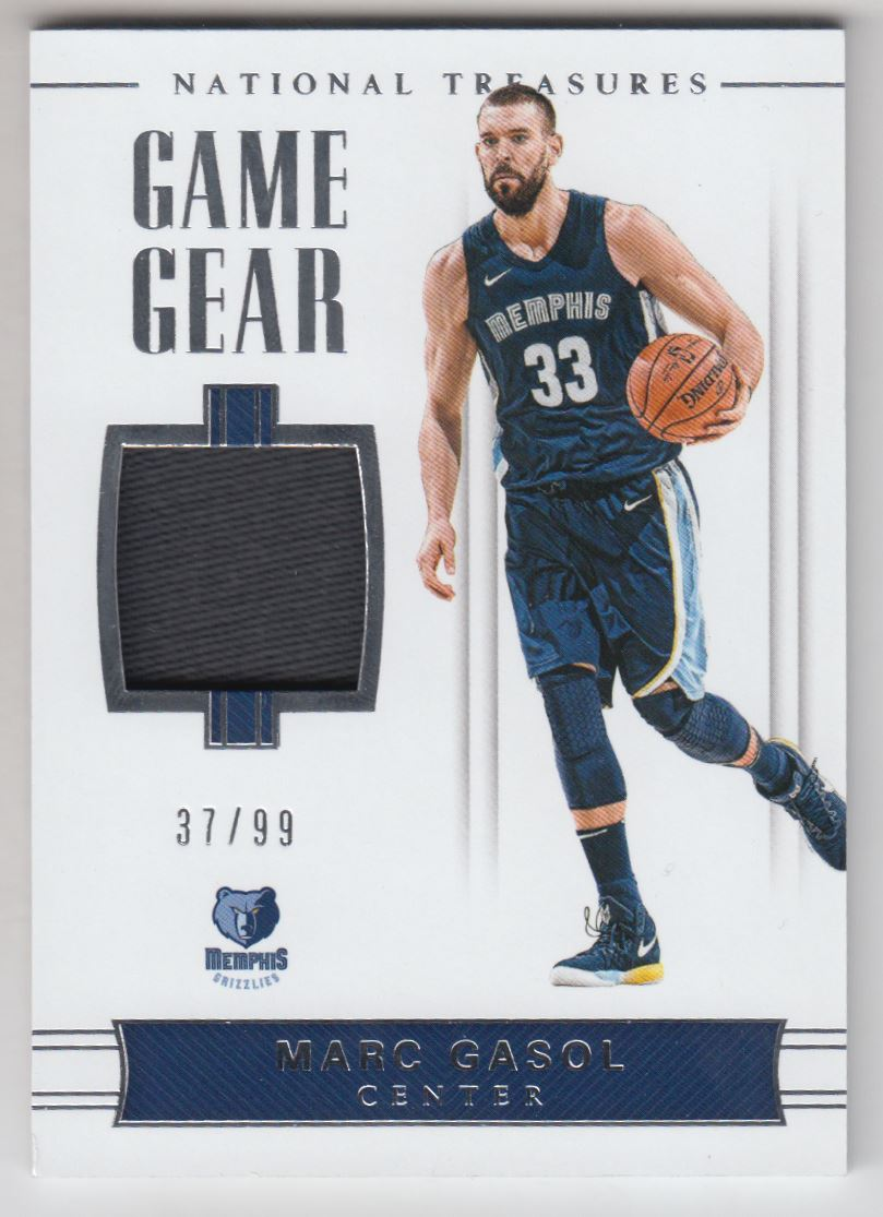2017-18 Panini National Treasures Game Gear Relics  40 Marc Gasol Jersey  99 9e2a67361